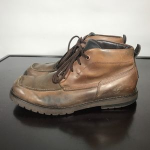 Timberland Shoes - TIMBERLAND men Mid Chukka Leather Boots Sz 10.5 M